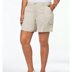 Style & Co Shorts Cargo Beige 20W New